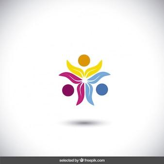 Kleurrijke bloemen logo