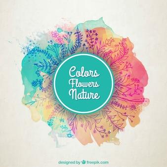 Kleurrijke bloemen natuur