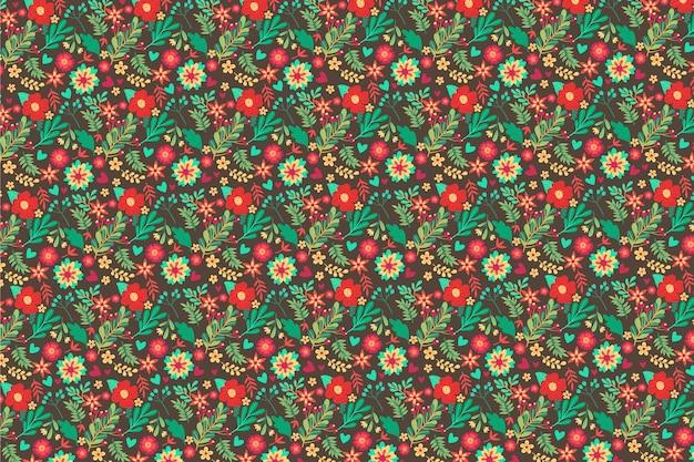 Kleurrijke bloemenachtergrond in ditsy stijl