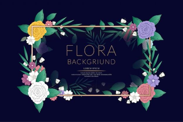 Kleurrijke bloemenbannerillustratie