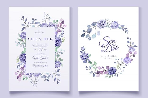 Kleurrijke bloemenhuwelijksuitnodiging