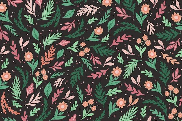 Kleurrijke bloemenprintachtergrond