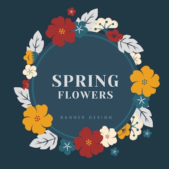 Kleurrijke bloemenrand