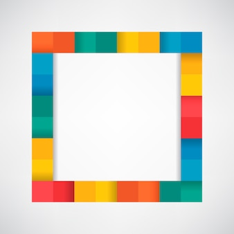 Kleurrijke blokken op lege witte achtergrond