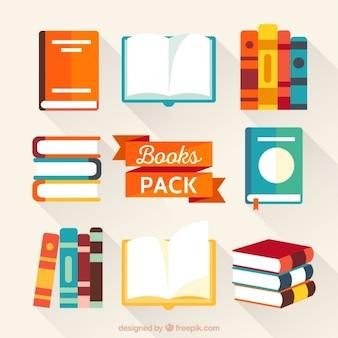 Kleurrijke boeken inpakken