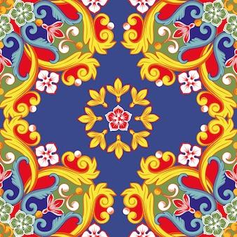 Kleurrijke boho mandala achtergrond.