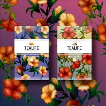 Kleurrijke botanische aquarel bloemen