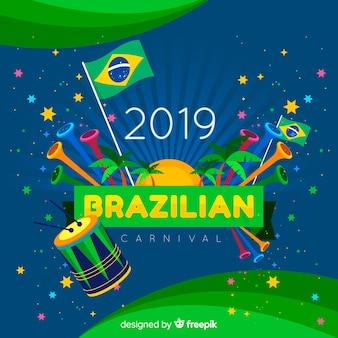 Kleurrijke braziliaanse carnaval-achtergrond