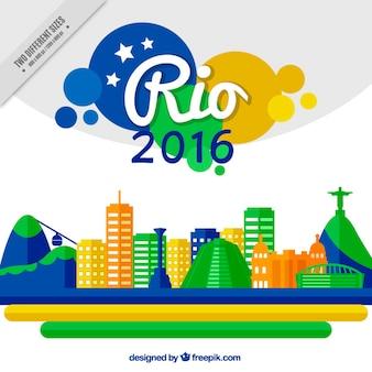 Kleurrijke brazilië in flat ontwerp achtergrond