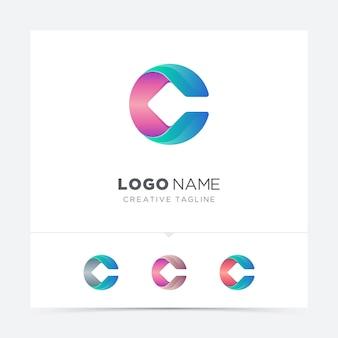 Kleurrijke brief logo variatie