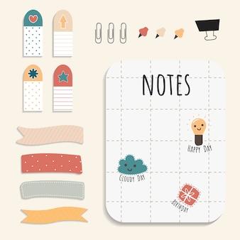 Kleurrijke briefpapier set