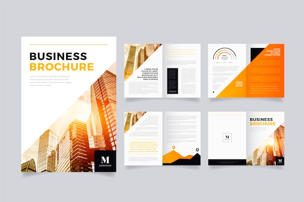 Kleurrijke brochure sjabloon lay-out