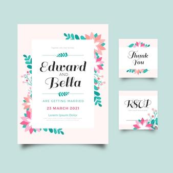 Kleurrijke bruiloft briefpapier