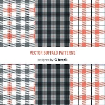 Kleurrijke buffalo patroon collectie