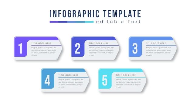 Kleurrijke business info grafisch ontwerpsjabloon vector met pictogrammen en opties of stappen. kan worden gebruikt voor procesdiagram, presentaties, workflowlay-out, banner, stroomdiagram, infografiek