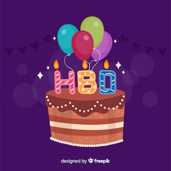 Kleurrijke cake verjaardag achtergrond