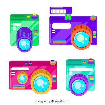Kleurrijke camera collectie