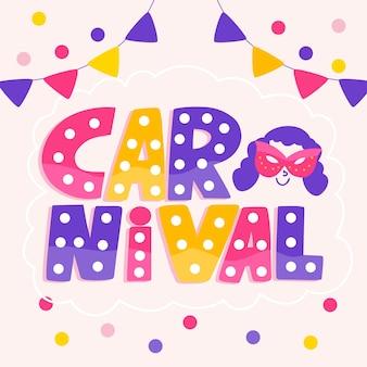 Kleurrijke carnaval belettering