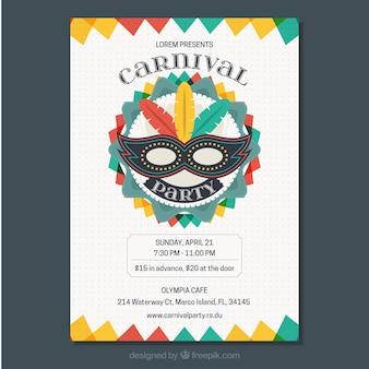 Kleurrijke carnaval flyer sjabloon