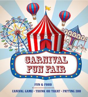 Kleurrijke carnaval kermis banner