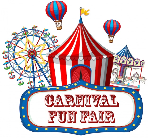 Kleurrijke carnaval kermisbanner