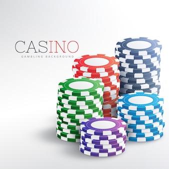 Kleurrijke casino chips vector achtergrond