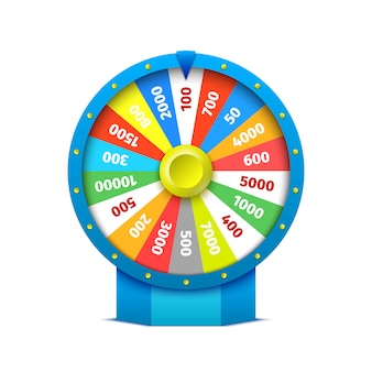 Kleurrijke casino roulette. illustratie.
