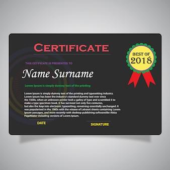 Kleurrijke certificaat sjabloon