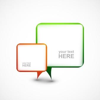 Kleurrijke chatbox