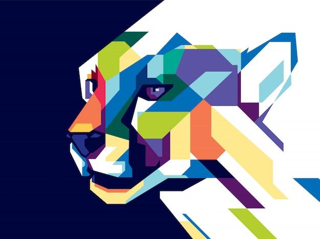 Kleurrijke cheetah