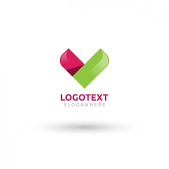 Kleurrijke chevron logo