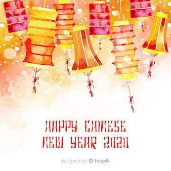 Kleurrijke chinese nieuwe jaarachtergrond