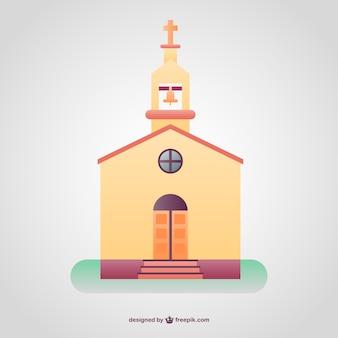 Kleurrijke christelijke tempel achtergrond