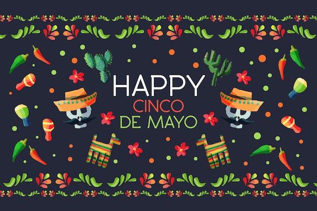 Kleurrijke cinco de mayo achtergrond