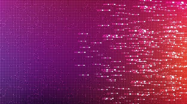 Kleurrijke circuit microchip-technologie op toekomstige achtergrond.