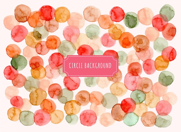 Kleurrijke cirkel aquarel achtergrond