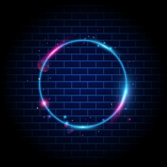 Kleurrijke cirkel licht frame achtergrond