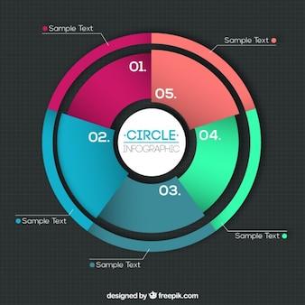 Kleurrijke cirkeldiagram