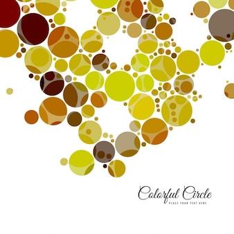 Kleurrijke cirkels achtergrond