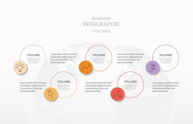 Kleurrijke cirkels infographics