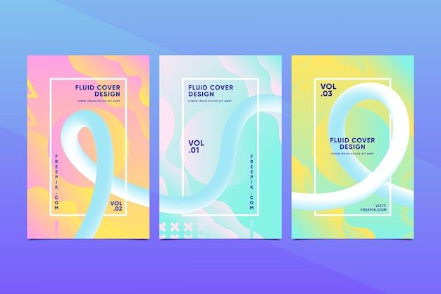 Kleurrijke collectie van creatieve abstracte covers