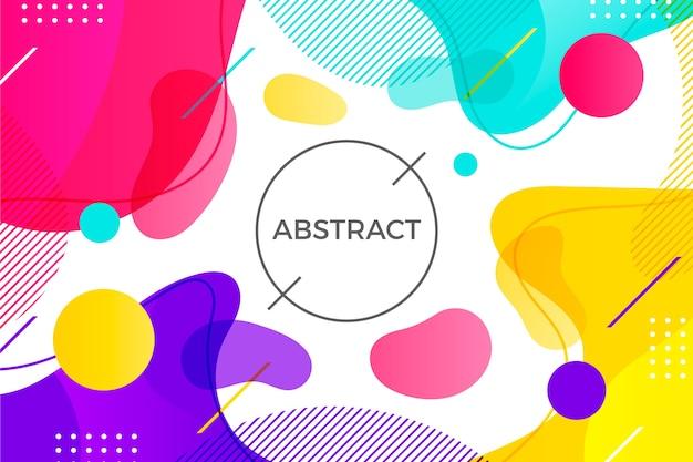 Kleurrijke compositie abstracte achtergrond