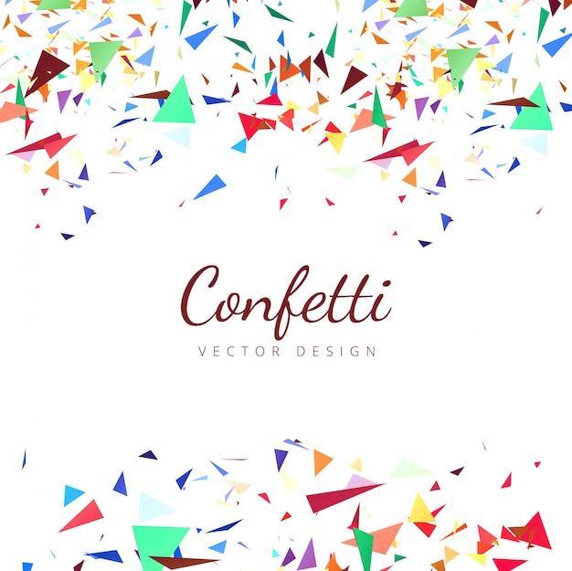 Kleurrijke confetti achtergrond illustratie