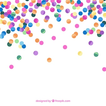 Kleurrijke confetti achtergrond in vlakke stijl