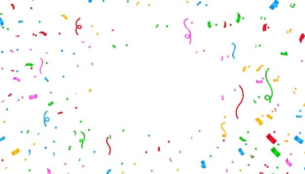 Kleurrijke confetti-achtergrond met tekstruimte