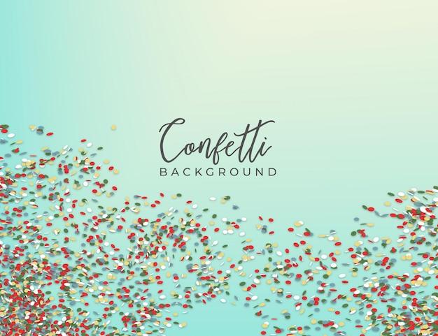 Kleurrijke confetti achtergrond