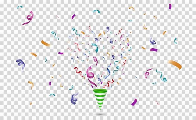 Kleurrijke confetti. feestelijk vrolijk. kegel met confetti.