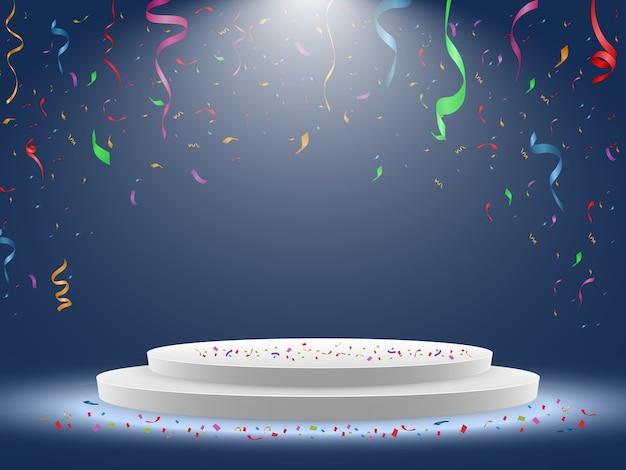 Kleurrijke confetti geïsoleerd. feestelijke achtergrond vector. van harte gefeliciteerd. vakantie.