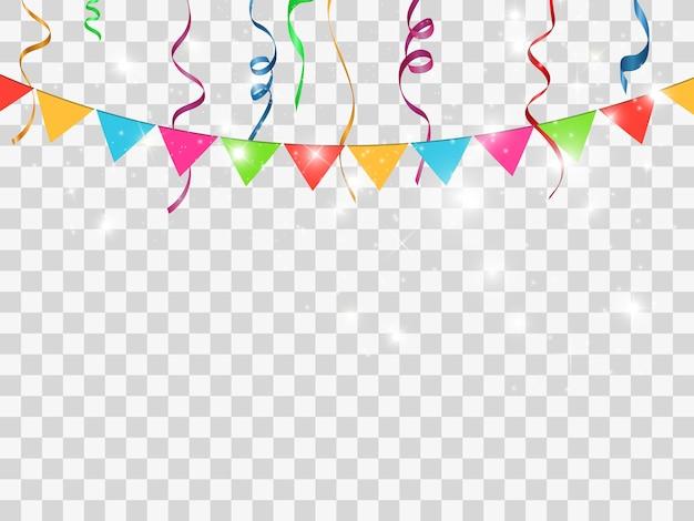Kleurrijke confetti geïsoleerd. feestelijke achtergrond