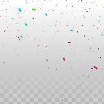 Kleurrijke confetti op transparant